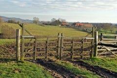 Paisaje rural del invierno Imagen de archivo libre de regalías