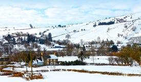 Paisaje del invierno de la Navidad blanca fotografía de archivo