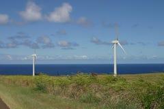 Paisaje rural del molino de viento Imagenes de archivo