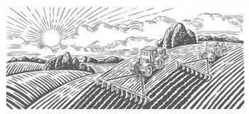 Paisaje rural del resorte libre illustration