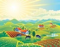 Paisaje rural del verano Foto de archivo