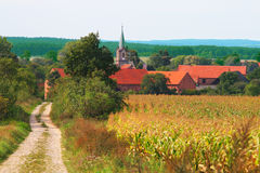 Paisaje rural del verano Fotos de archivo libres de regalías