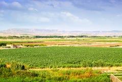 Paisaje rural en Aragón, España fotografía de archivo