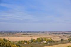 Paisaje rural en día del otoño Fotos de archivo