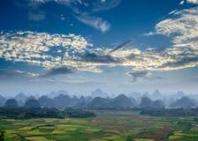 Paisaje rural en Guilin Imágenes de archivo libres de regalías