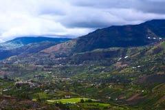 Paisaje rural en la provincia de Tungurahua, Ecuador Imagenes de archivo