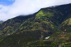 Paisaje rural en la provincia de Tungurahua, Ecuador Imagen de archivo