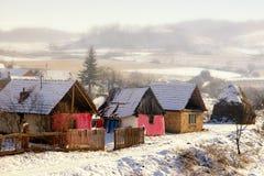 Paisaje rural en Rumania Foto de archivo
