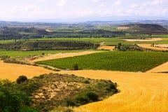 Paisaje rural en verano La Rioja fotografía de archivo