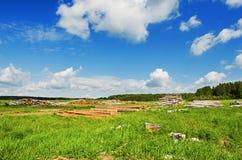 Paisaje rural hermoso del verano Fotografía de archivo libre de regalías