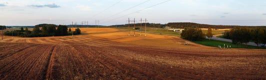 Paisaje rural panorámico imagenes de archivo
