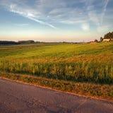 Paisaje rural pastoral fotografía de archivo
