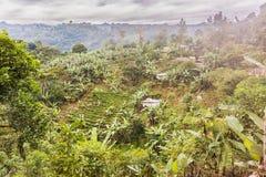 Paisaje rural pintoresco en las montañas de Guatemala Imagen de archivo libre de regalías