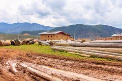 Paisaje rural, Shangri-La imágenes de archivo libres de regalías