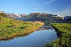 Paisaje rural suizo fotografía de archivo