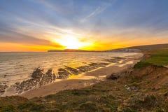 Paisaje rural y acantilados en la isla del Wight Imagen de archivo libre de regalías