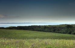 Paisaje rural y bahía Foto de archivo libre de regalías