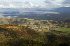 Paisaje rural y llanos de Macedonia Foto de archivo libre de regalías