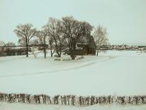 Paisaje ruso en invierno Foto de archivo libre de regalías