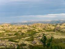 Paisaje septentrional de la montaña Fotos de archivo libres de regalías