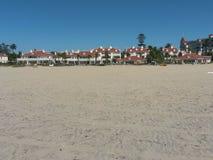 Paisaje sobre la playa de Coronado Fotos de archivo