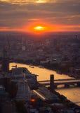 Paisaje sobre Londres Fotografía de archivo libre de regalías