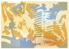 paisaje soleado de la playa abstracta ilustración del vector