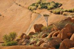 Paisaje, Spitzkoppe, Namibia Fotos de archivo