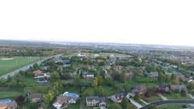 Paisaje suburbano aéreo 4 de Ohio almacen de video