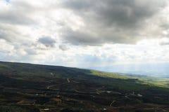 Paisaje superior de las montañas de Galilea Imágenes de archivo libres de regalías