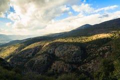 Paisaje superior de las montañas de Galilea Fotos de archivo