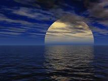 Paisaje surrealista de la noche Fotografía de archivo