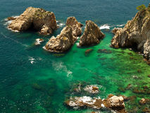 Paisaje típico de Brava de la costa Foto de archivo libre de regalías