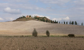 Paisaje típico de Toscana Fotos de archivo libres de regalías