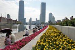 Paisaje Tianjin de la ciudad imagen de archivo libre de regalías