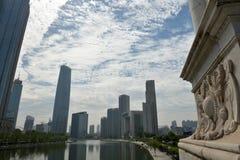 Paisaje Tianjin de la ciudad imagen de archivo