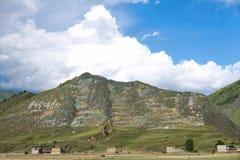 Paisaje tibetano Fotografía de archivo libre de regalías