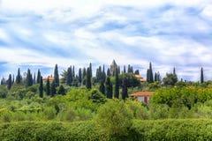 Paisaje toscano en Sirmione Foto de archivo libre de regalías