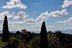 Paisaje toscano Florencia, Italia fotografía de archivo