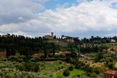 Paisaje toscano Florencia, Italia imágenes de archivo libres de regalías