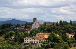 Paisaje toscano Florencia, Italia de Monte del al de San Miniato del renacimiento fotos de archivo