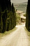 Paisaje toscano típico Fotos de archivo