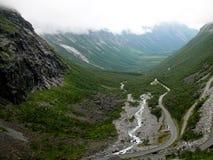 Paisaje Trollstigen de Noruega Foto de archivo
