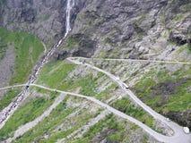 Paisaje Trollstigen de Noruega Imágenes de archivo libres de regalías