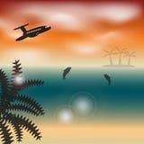 paisaje tropical ilustración del vector