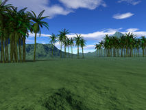 Paisaje tropical colorido Imagen de archivo