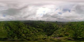 Paisaje tropical con la selva tropical Indonesia vr360 almacen de video
