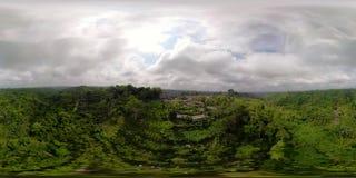 Paisaje tropical con la selva tropical Indonesia vr360 almacen de metraje de vídeo
