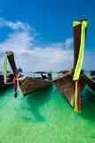 Barcos tradicionales tailandeses de la cola larga Foto de archivo