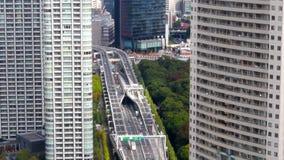 Paisaje urbano aéreo de Tokio - HD almacen de video